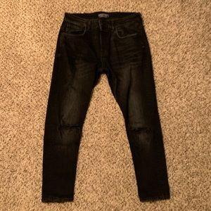 Men's Zara Cropped Jeans with Knee Rips